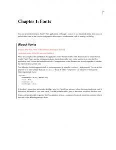 Chapter 1: Fonts. About fonts
