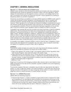 CHAPTER 1 GENERAL REGULATIONS