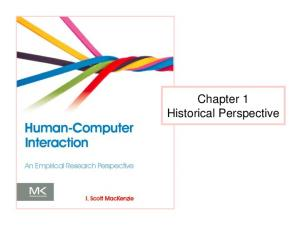 Chapter 1 Historical Perspective