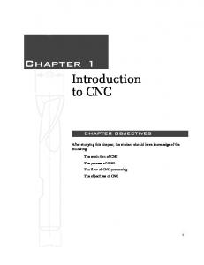 Chapter 1 Introduction to CNC