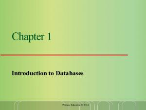 Chapter 1. Introduction to Databases