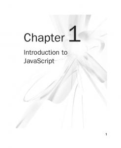 Chapter 1. Introduction to JavaScript