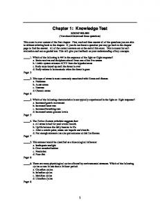 Chapter 1: Knowledge Test