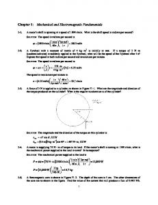 Chapter 1: Mechanical and Electromagnetic Fundamentals