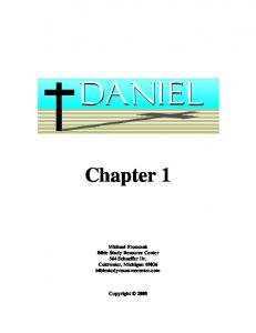 Chapter 1. Michael Fronczak Bible Study Resource Center 564 Schaeffer Dr. Coldwater, Michigan biblestudyresourcecenter.com