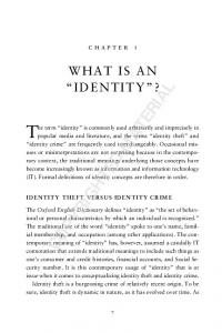 chapter 1 WHAT IS AN IDENTITY?