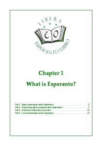 Chapter 1 What is Esperanto?