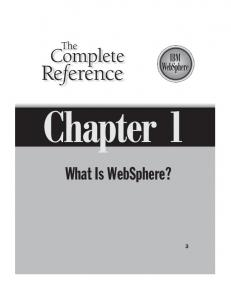 Chapter 1. What Is WebSphere?