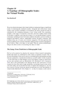 Chapter 10 A Typology of Ethnographic Scales for Virtual Worlds