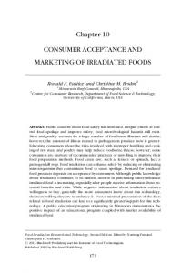 Chapter 10 CONSUMER ACCEPTANCE AND MARKETING OF IRRADIATED FOODS
