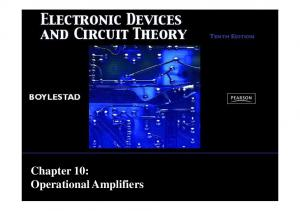 Chapter 10: Operational Amplifiers