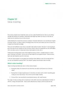 Chapter 10 Value investing