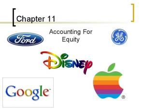 Chapter 11. Accounting For Equity