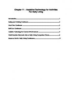 Chapter 11 Assistive Technology for Activities For Daily Living