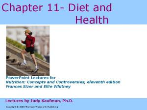 Chapter 11- Diet and Health