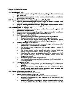 Chapter 11 - Endocrine System