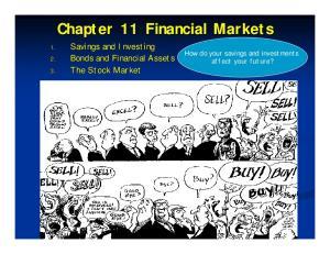 Chapter 11 Financial Markets