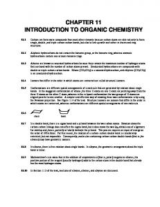 CHAPTER 11 INTRODUCTION TO ORGANIC CHEMISTRY