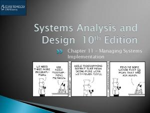Chapter 11 Managing Systems Implementation