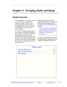 Chapter 11. On Aging, Death, and Dying