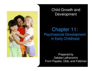 Chapter 11: Psychosocial Development in Early Childhood