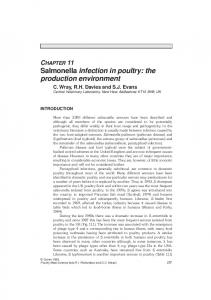 CHAPTER 11 Salmonella infection in poultry: the production environment