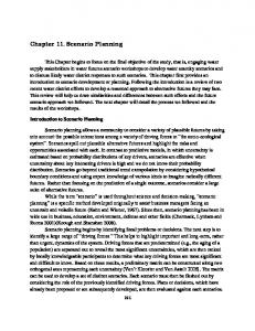 Chapter 11. Scenario Planning