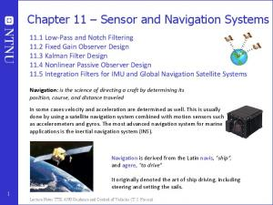 Chapter 11 Sensor and Navigation Systems