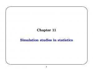 Chapter 11. Simulation studies in statistics