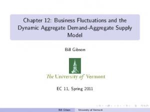 Chapter 12: Business Fluctuations and the Dynamic Aggregate Demand-Aggregate Supply Model