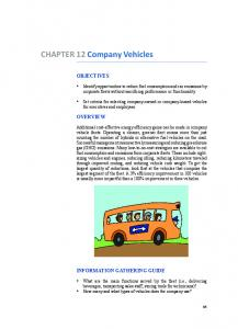 CHAPTER 12 Company Vehicles