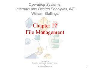 Chapter 12 File Management