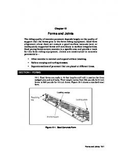 Chapter 12. Forms and Joints