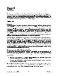 Chapter 12 Rail Plan. Freight Rail