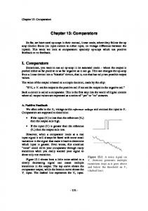 Chapter 13: Comparators