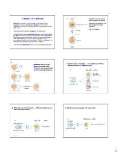 Chapter 13: Cytokines