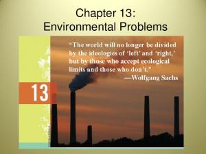 Chapter 13: Environmental Problems