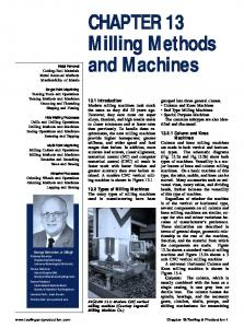 CHAPTER 13 Milling Methods and Machines