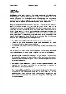CHAPTER 13 MODULATION 13-1