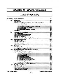 Chapter 13 - Shore Protection