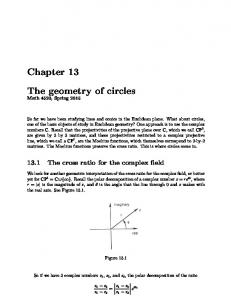 Chapter 13. The geometry of circles. Math 4520, Spring 2015