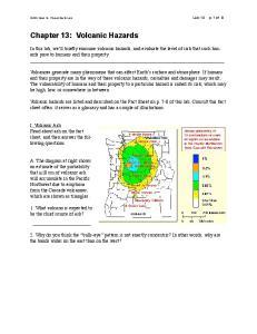 Chapter 13: Volcanic Hazards