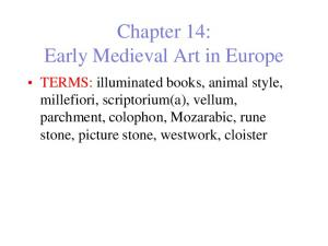 Chapter 14: Early Medieval Art in Europe