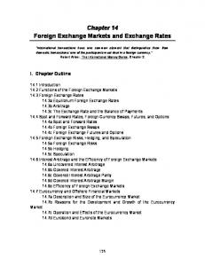 Chapter 14 Foreign Exchange Markets and Exchange Rates