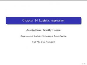 Chapter 14 Logistic regression