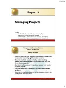 Chapter 14. Managing Projects
