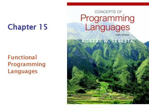 Chapter 15. Functional Programming Languages