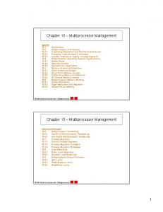 Chapter 15 Multiprocessor Management
