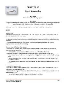 CHAPTER 15 Total Surrender