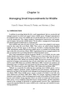 Chapter 16. Managing Small Impoundments for Wildlife